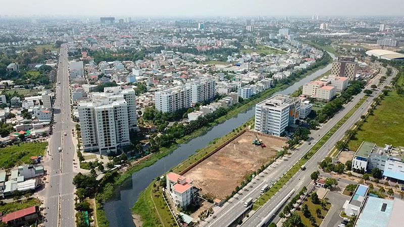 Khu đô thị (KĐT) Hồng Thái ở xã Thượng Mỗ và Đan Phượng